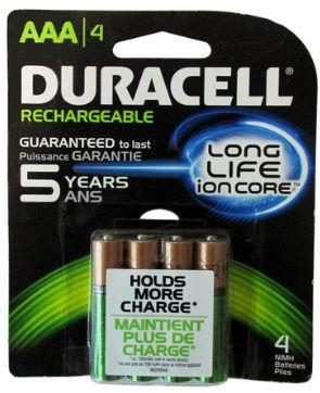 Duracell Aaa Battery Capacity Mah