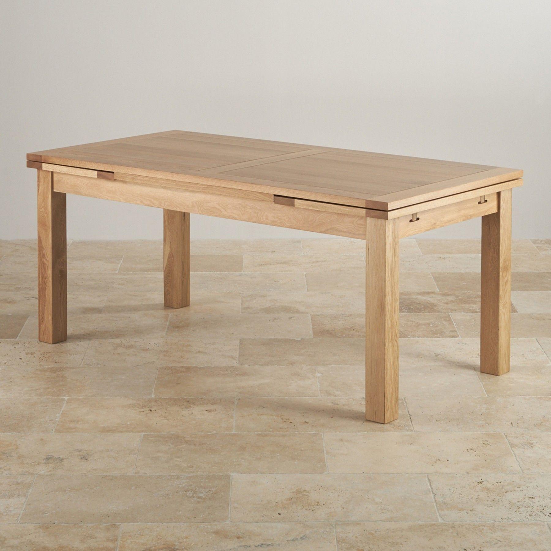 Brilliant Dorset 6Ft X 3Ft Natural Solid Oak Extending Dining Table Machost Co Dining Chair Design Ideas Machostcouk