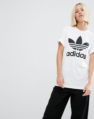 198e6327 Adidas | adidas Originals Oversized T-Shirt With Trefoil Logo ...
