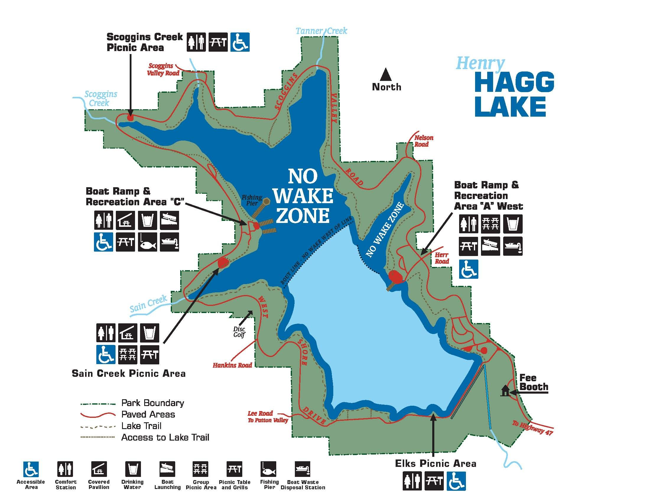 henry hagg lake map Hagg Lake Map With Legend Lake Map Lake Recreation Area henry hagg lake map