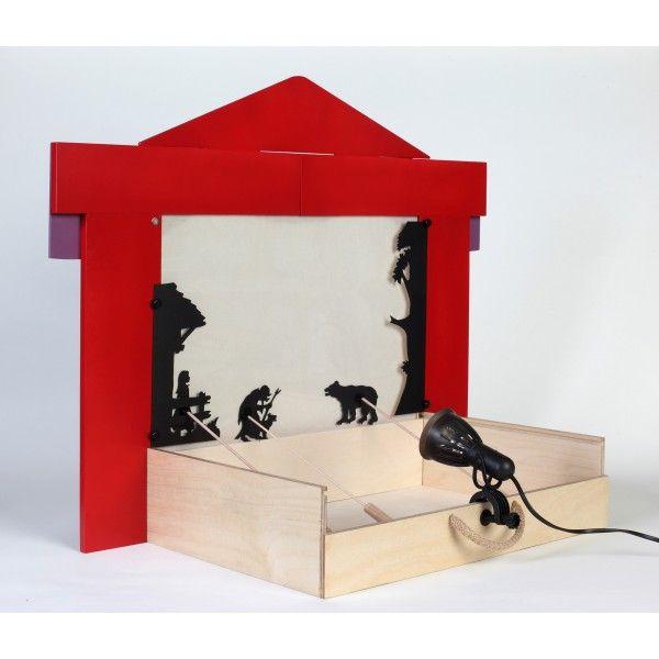 le th tre d 39 ombres en bois coco d 39 en haut shadow theatre pinterest puppet and shadow. Black Bedroom Furniture Sets. Home Design Ideas