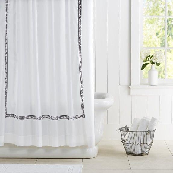 Greek Key Shower Curtain Hotel Shower Curtain