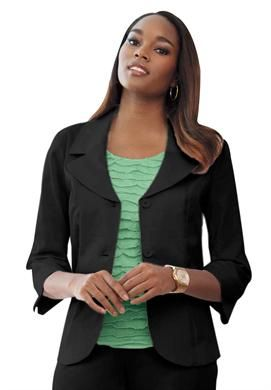 Basic Stretch Blazer | Plus Size Career Jackets & Blazers | Jessica London