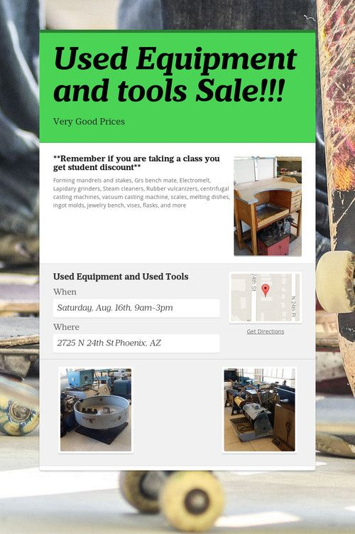 Used Equipment and tools Sale!!! | My Style | Tools for sale