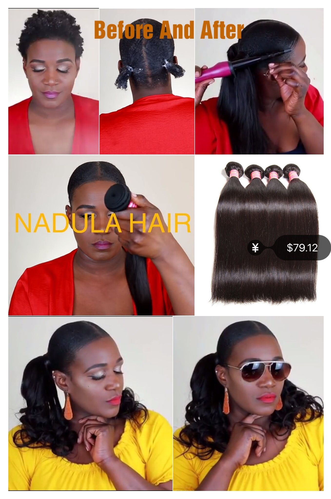 Nadula soft virgin brazilian straight hair weave bundles