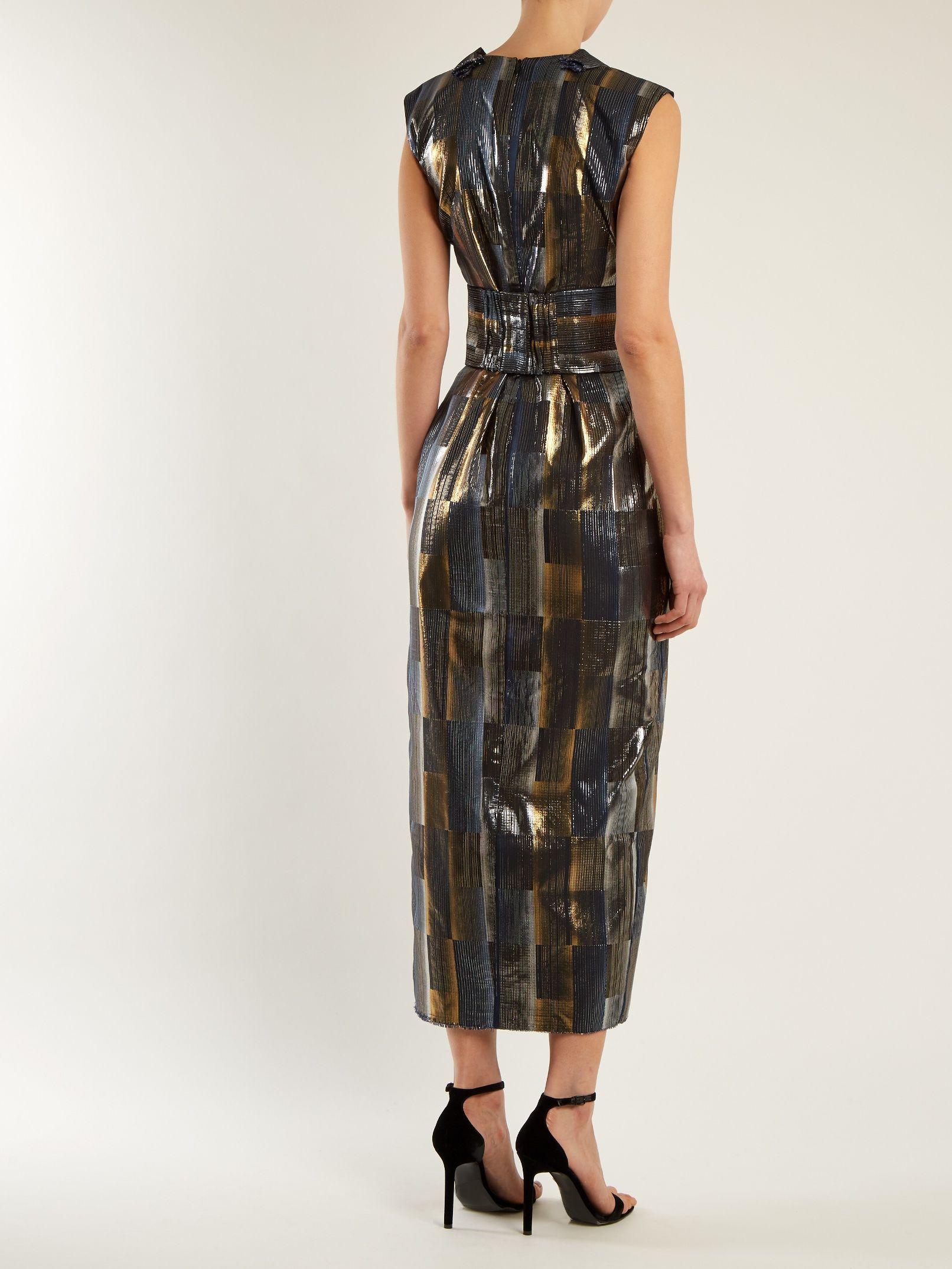 Aerosphere sleeveless jacquard dress Carl Kapp Manchester Great Sale Sale Online TZCIxh