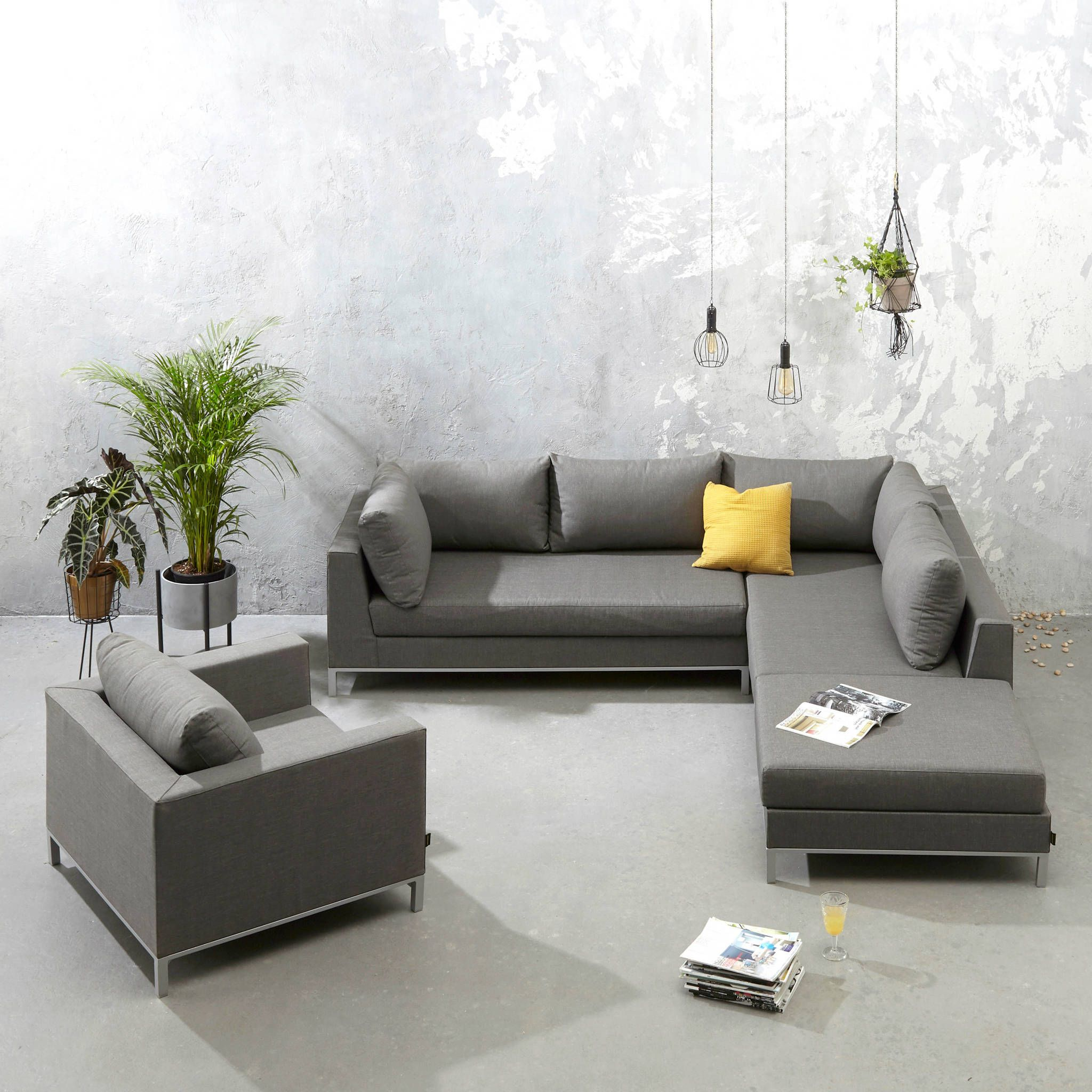 Loungeset Hoekbank Fauteuil.Exotan All Weather Loungeset Rechts Met Fauteuil In 2019