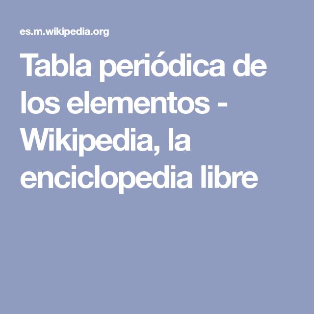 Tabla peridica de los elementos wikipedia la enciclopedia tabla peridica de los elementos wikipedia la enciclopedia libre urtaz Image collections
