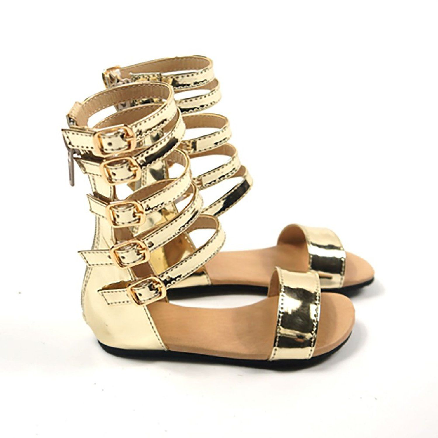 6ff73cc3dda24 Amazon.com: D.LIN Fashion Infant/Toddler/Kid Gladiator Sandals Girls ...