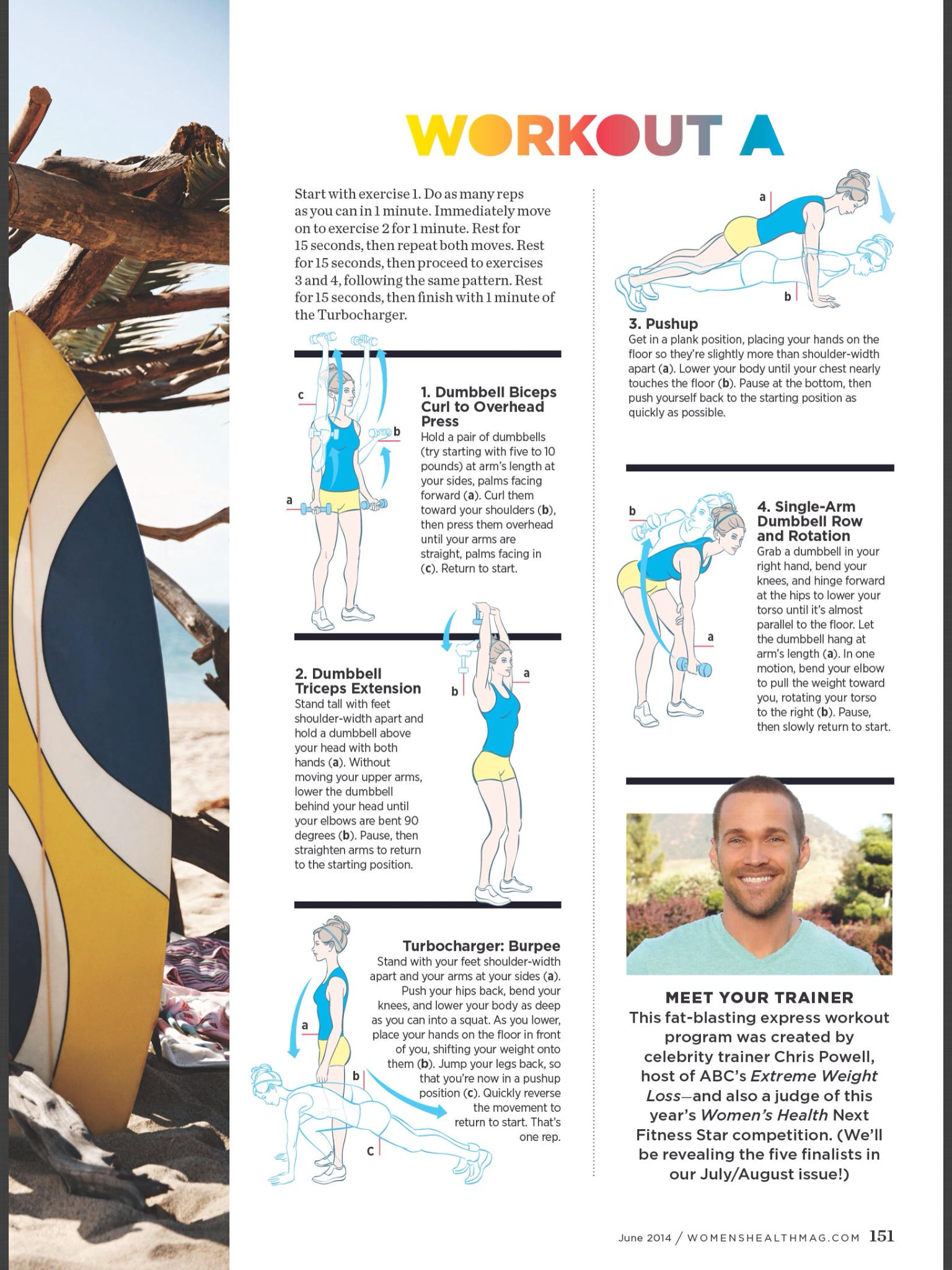 Beach body workout A from Chris Powell in June Women's