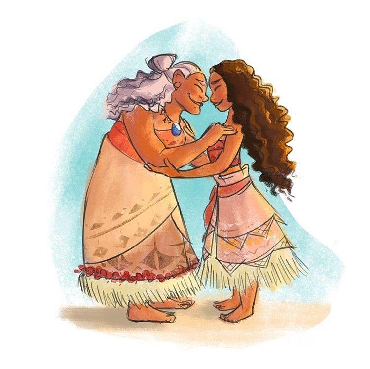 Risultati immagini per moana and grandmother