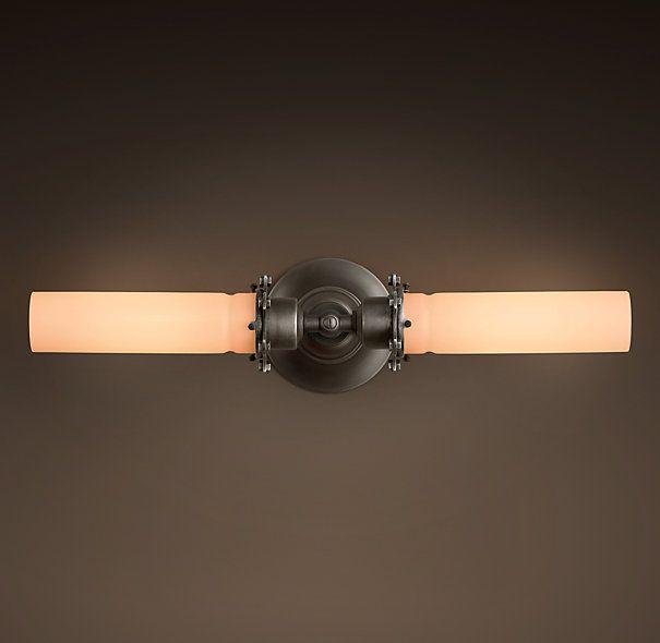 Edison Milk Glass Inline Double Sconce. Bathroom SconcesBathroom LightingModern  ...