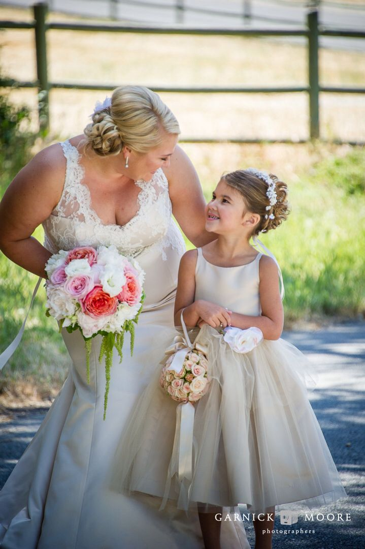 Beautiful Bridal Bouquet And Flower Girl Pomander Ball Floral
