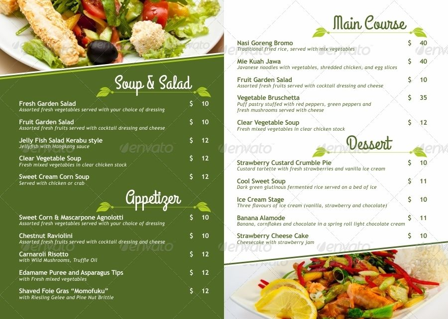 Vegetarian Restaurant Menu Poster Preview Veg Restaurant Menu Restaurant Vegetarian