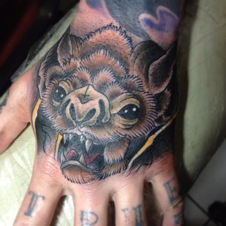 f7cbdc97f9008 Realistic Bat Tattoo   Cree McCahill - bat hand   Foot, hand, and ...