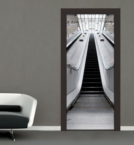 Escalator Door Wallpaper Mural Tapettijuliste