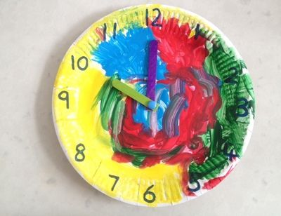 Paperplate Clock Early Childhood Learning Activities Crafts For