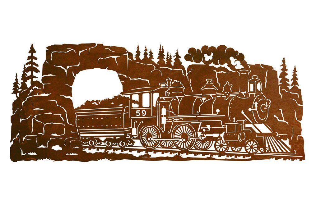 42 Steam Locomotive Train Scenic Metal Wall Art Art Scrap