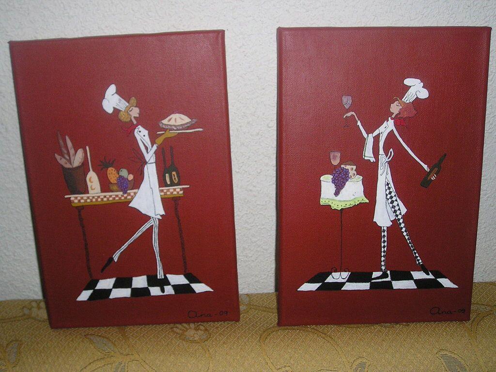 Cuadros cocina bancos madera pinterest cuadro - Cuadros cocina vintage ...