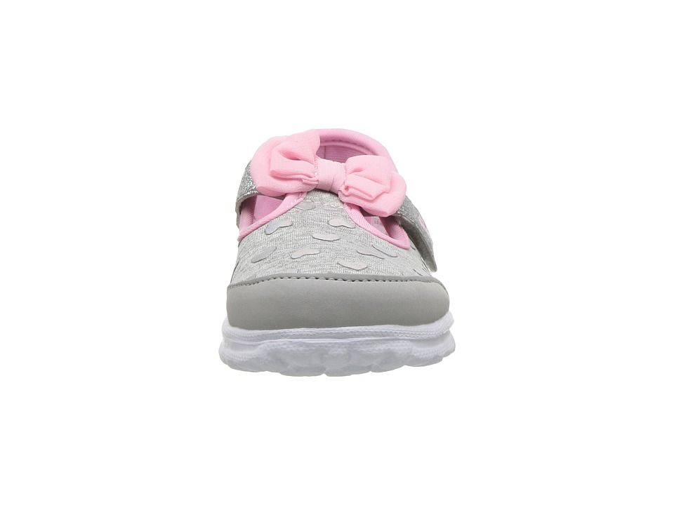 3dbef75d7e37 SKECHERS KIDS Go Walk - Bitty Heart 81162N (Infant Toddler Little Kid)  Girl s Shoes Gray Pink