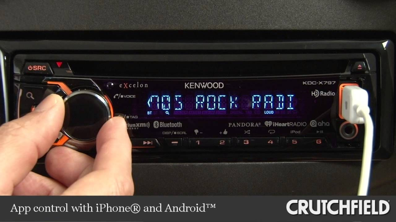 Kenwood Excelon KDC-X797 Car Receiver Display and Controls