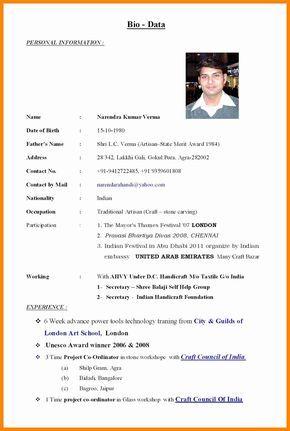 Wedding Resume Format Elegant Marriage Pdf Within Marriage Biodata