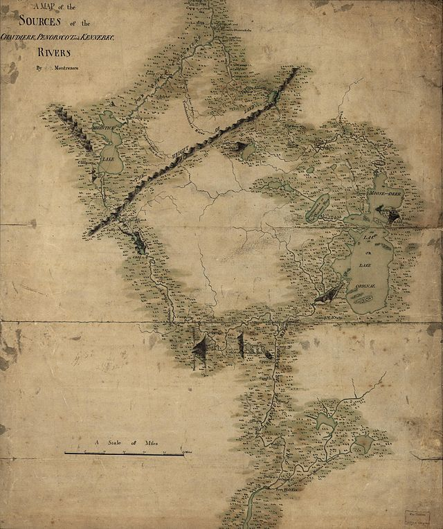 Map Of Maine North America Central Quebec