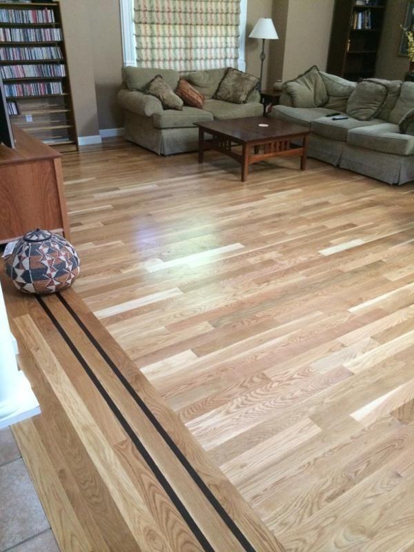 White Oak Hardwood Floor That Has A 1 Walnut Feature Strip White Oak Hardwood Floors Oak Hardwood Oak Hardwood Flooring