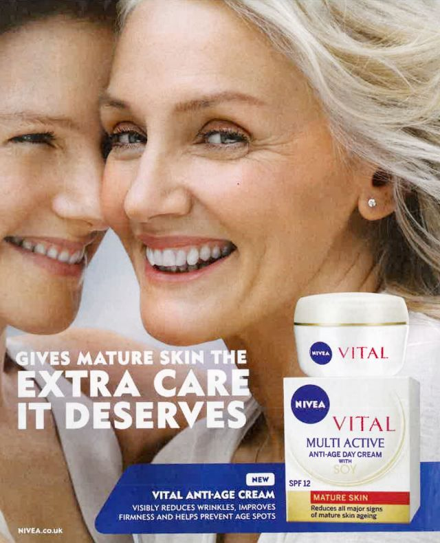 Skin Care Ads: Banned, Nivea Ad That Made Model Of 62 Look Younger