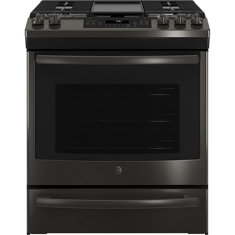 "GE 30"" SlideIn Front Control Convection Gas Range"