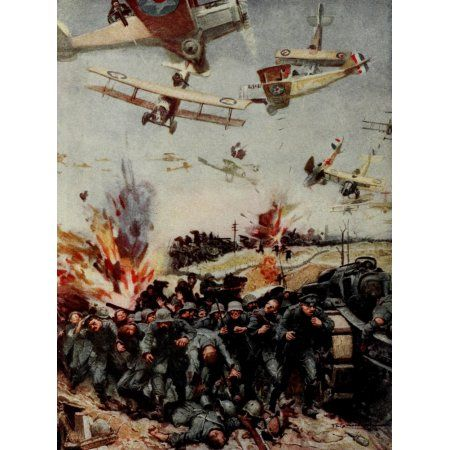 Historys Greatest War 1919 Victorious retreat back to the Rhine Canvas Art - FE Schoonover (18 x 24)