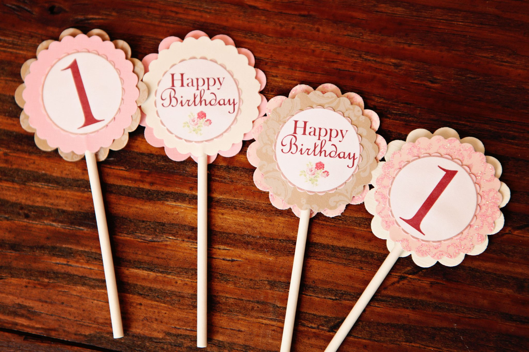 Southern Charm Cupcake Toppers Vintage Birthday Rustic Girl Decorations Cake