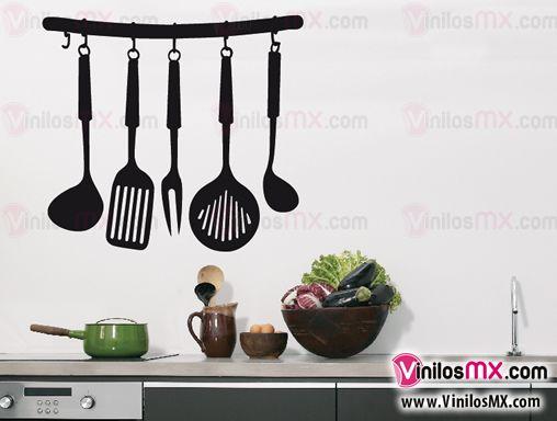 Cocinas cocina 01 vinilos decorativos for Utensilios decoracion cocina