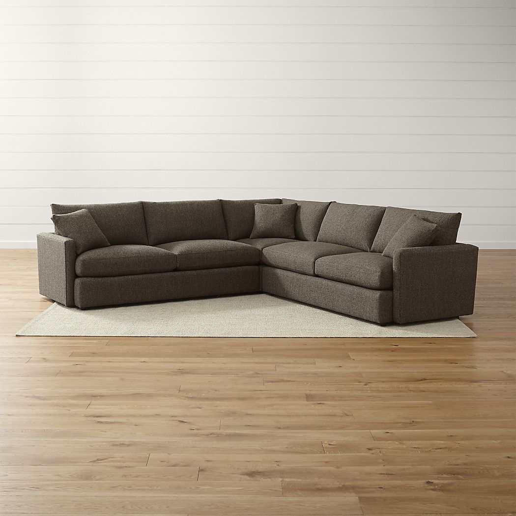 Lounge ii petite 3 piece sectional sofa