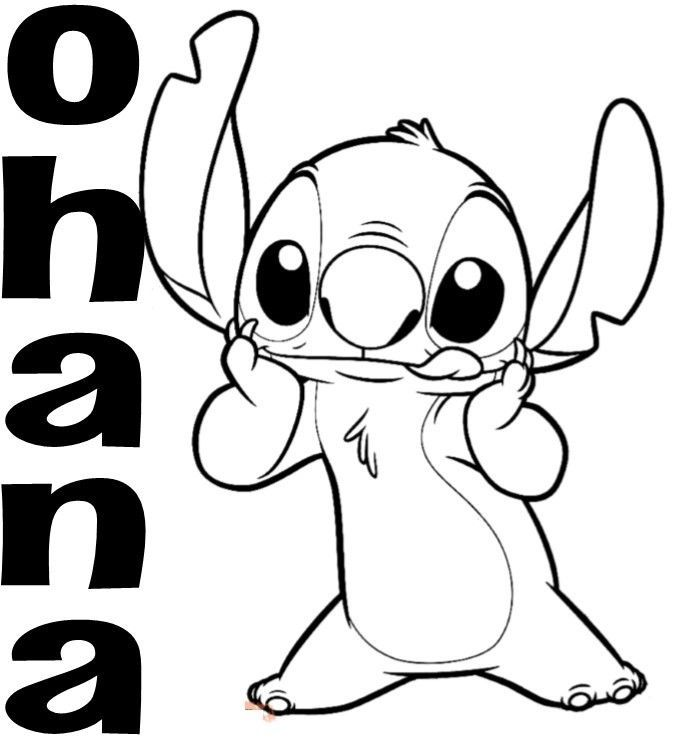 $5  Custom Vinyl Decal Ohana Stitch Love Family Hawaii Aloha Mahalo Lilo ebay Home & Garden is part of Stitch coloring pages -