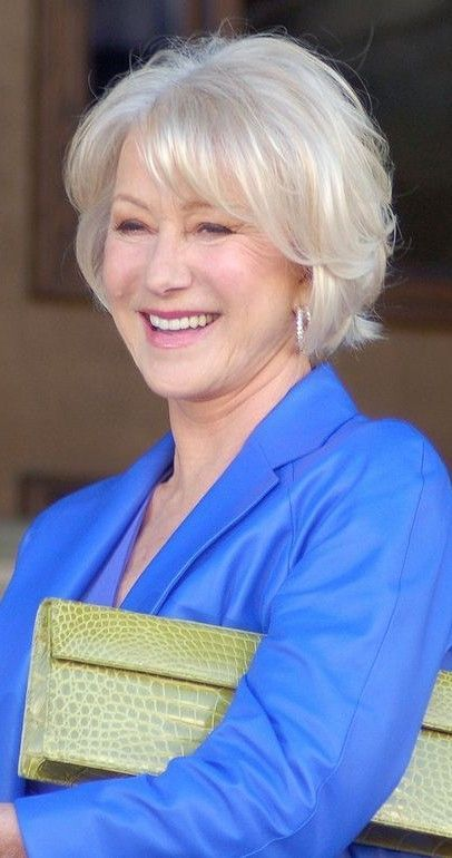Best Hairstyles For Over 70 Hairstyles For Thin Hair Helen Mirren Hair Short Hair Styles