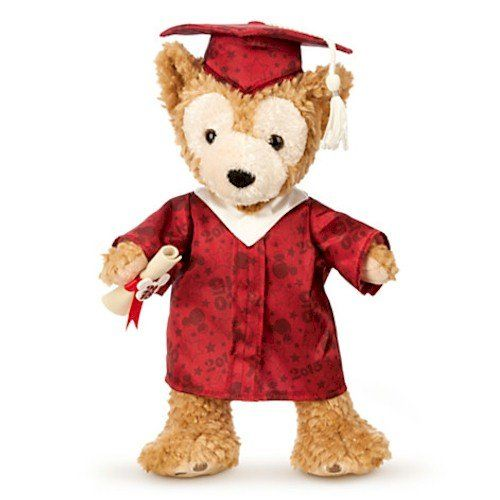 Disney Parks Duffy the Disney Bear Graduate Plush - Class of 2015 - Medium - 12''