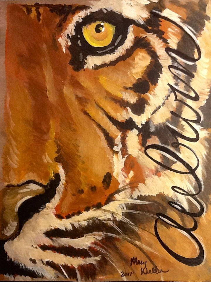 11x14 Auburn Tiger Print