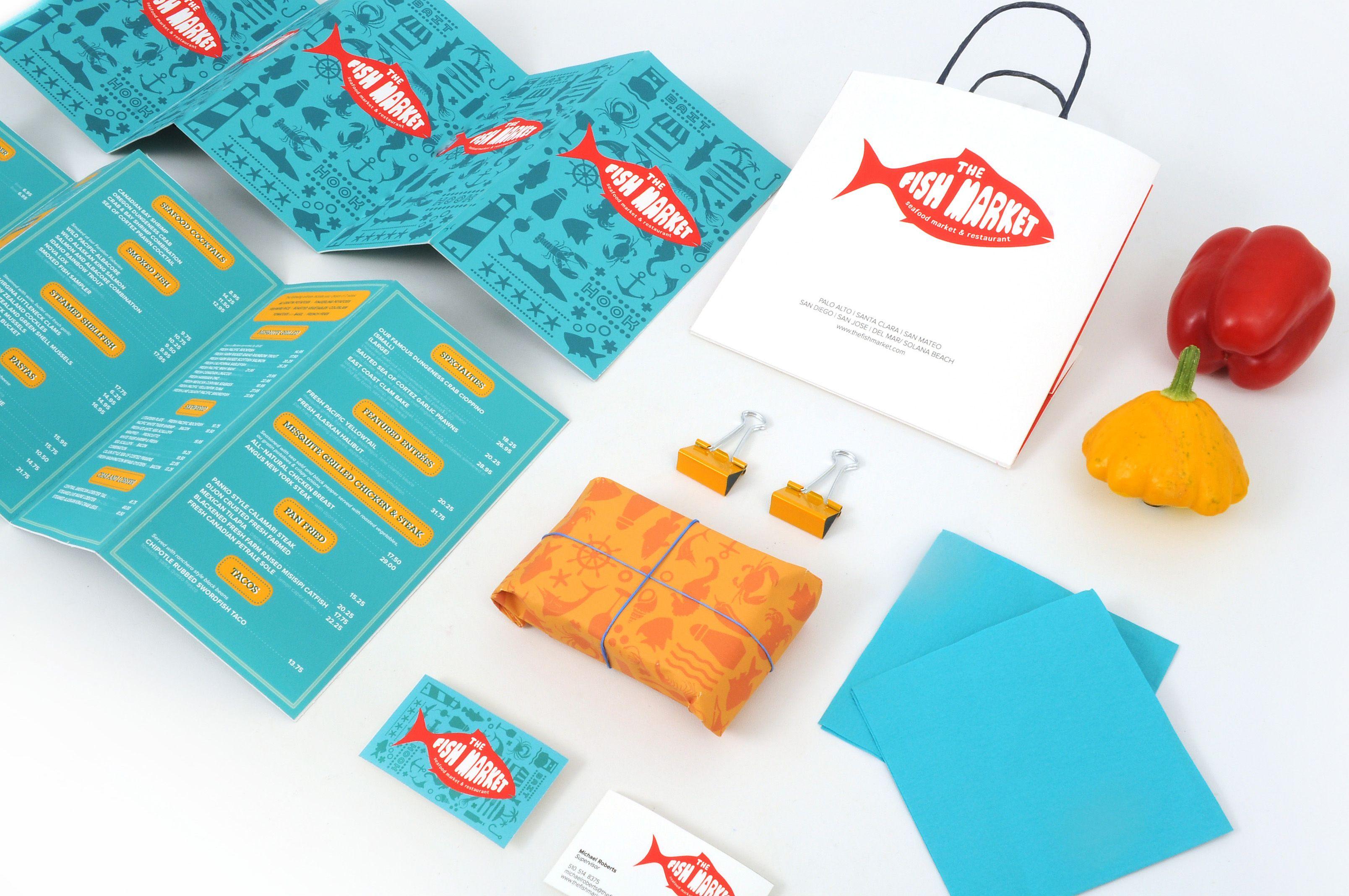 Fish Market Branding design branding Pinterest