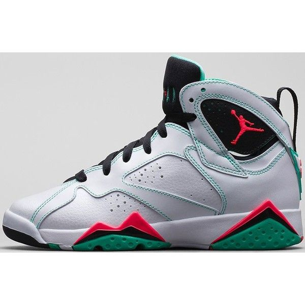 premium selection 0e6ed dd5d2 Air Jordan 7 Retro Girls White Black-Verde-Infrared 23 ❤ liked on Polyvore  featuring shoes and jordans
