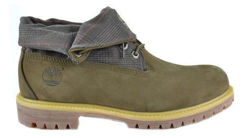 TIMBERLAND ROLL TOP BOOT OLIVE GREEN NUBUCK LEATHER