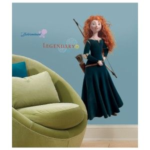 New BRAVE MERIDA WALL DECALS Disney Girls Bedroom Stickers Decor Great Gifts 034878015286 | eBay
