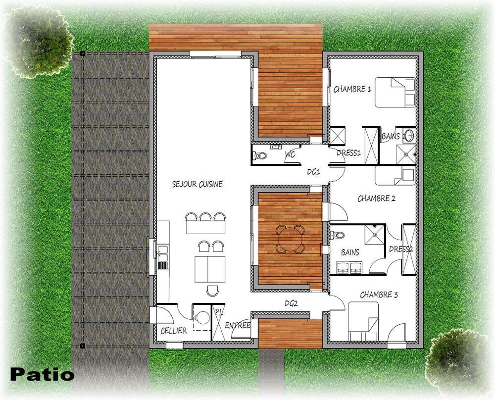 Gamme patio plan maison patio pinterest plans for Plan maison patio