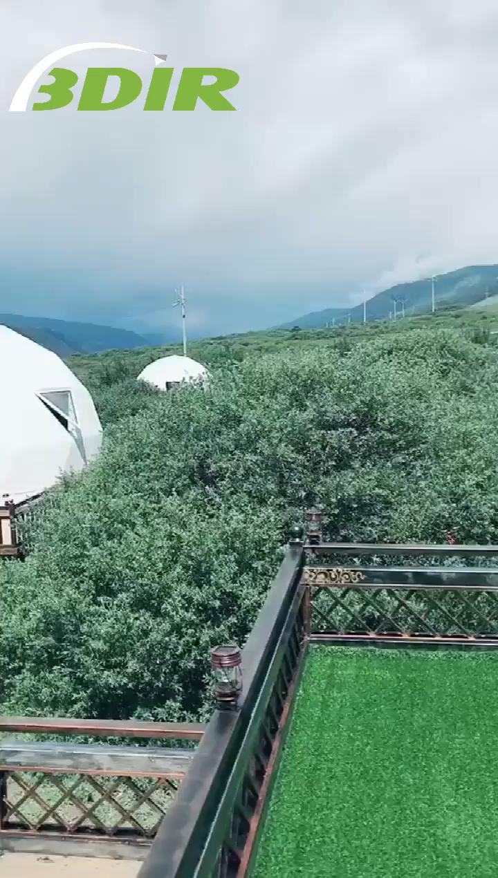 Bovedas De Pvc Con Mejores Ventas Glamping Gedesic Dome Tent House Video En 2020 Domos Geodesicos Cupula Geodesica Diseno Para El Hogar