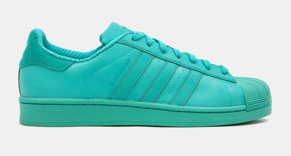 Adidas Men's SUPERSTAR ADICOLOR Shoes Shock Mint S80331 a #adidas #AthleticSneakers