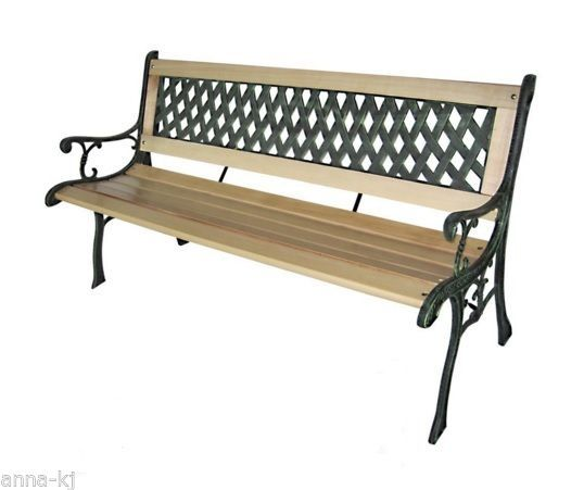 Awesome Garden Park Bench Wooden 3 Seater Cast Iron Legs Outdoor Ocoug Best Dining Table And Chair Ideas Images Ocougorg