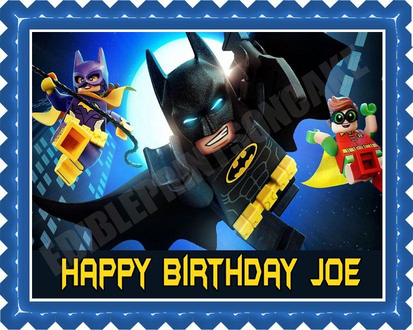 The Lego Batman Movie 2 Edible Birthday Cake Topper