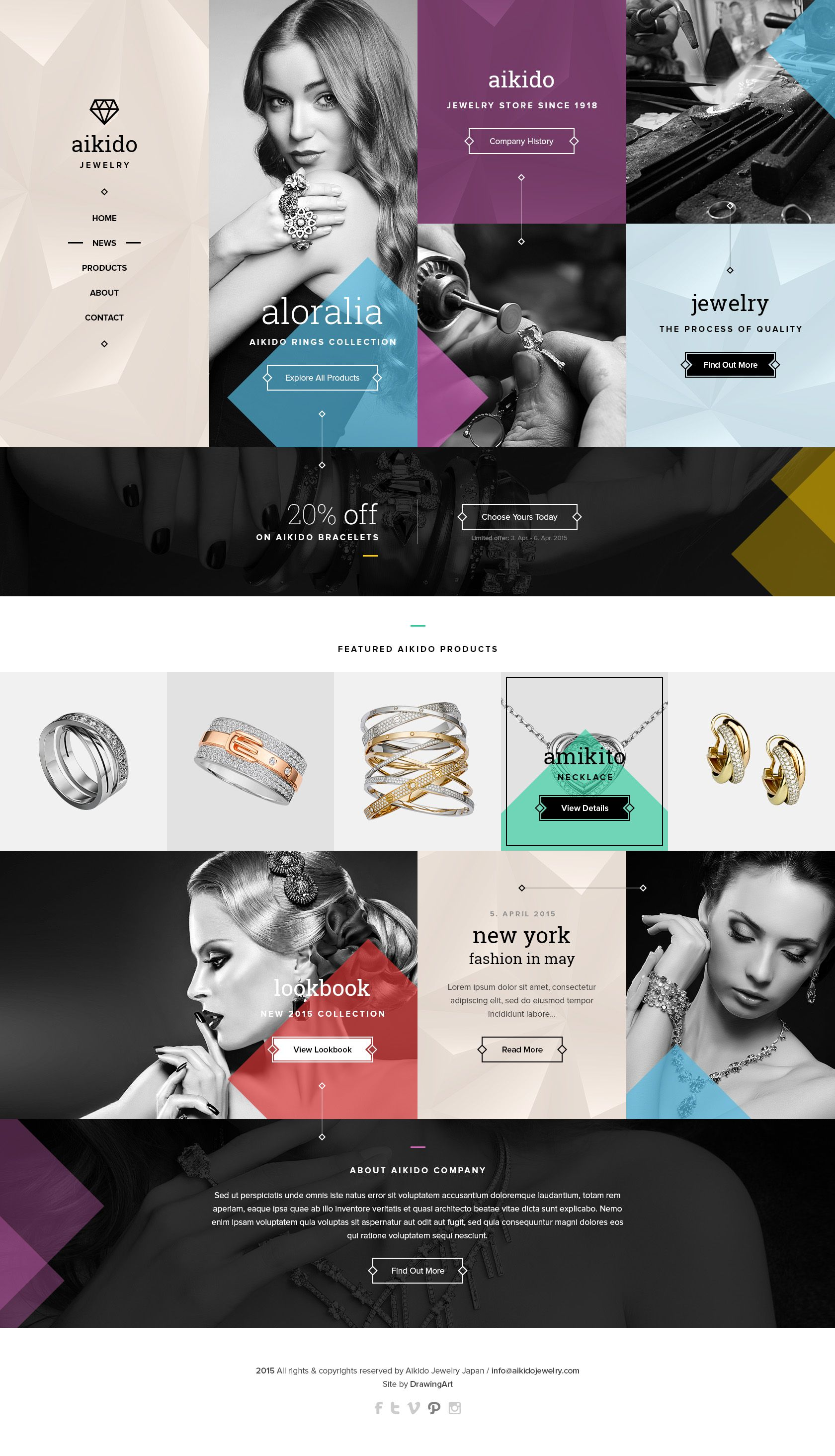 Aikido Jewelry Website Design Design Pinterest Jewelry website
