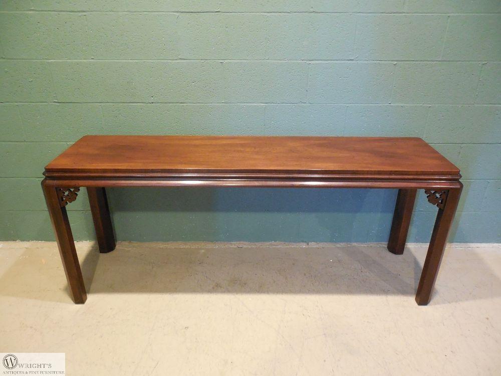 Terrific Henredon Mahogany Oriental Style 64W Sofa Wall Table 46 Andrewgaddart Wooden Chair Designs For Living Room Andrewgaddartcom