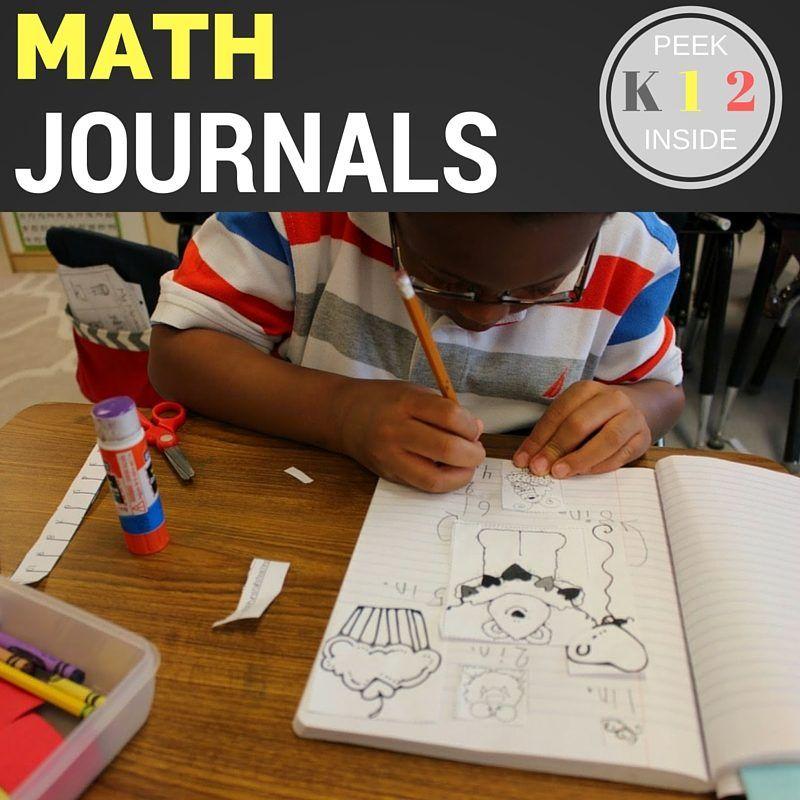 Math Journal K, 1, and 2 | Math journals, Math and Journal